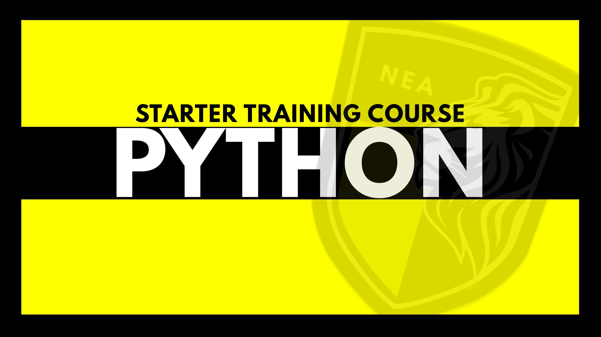 PYTHON NEA TRAINING